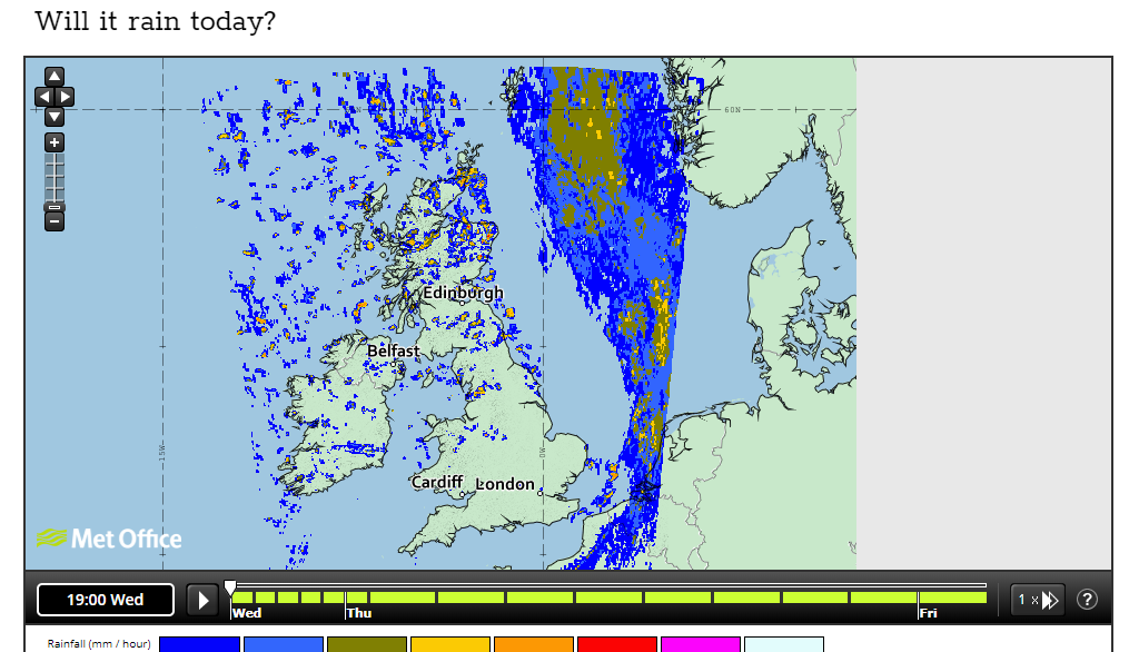 Will it rain today weather radar