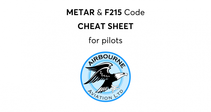 Chart F215 and Metar cheat sheet for pilots