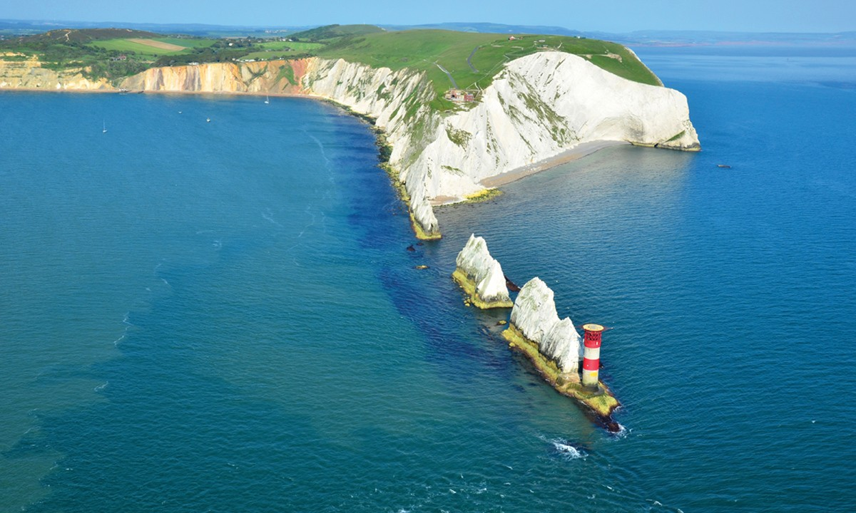 Top 10 places to fly to - Needles on the Isle of Wight