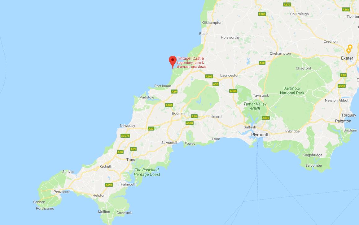 Tintagel Castle map