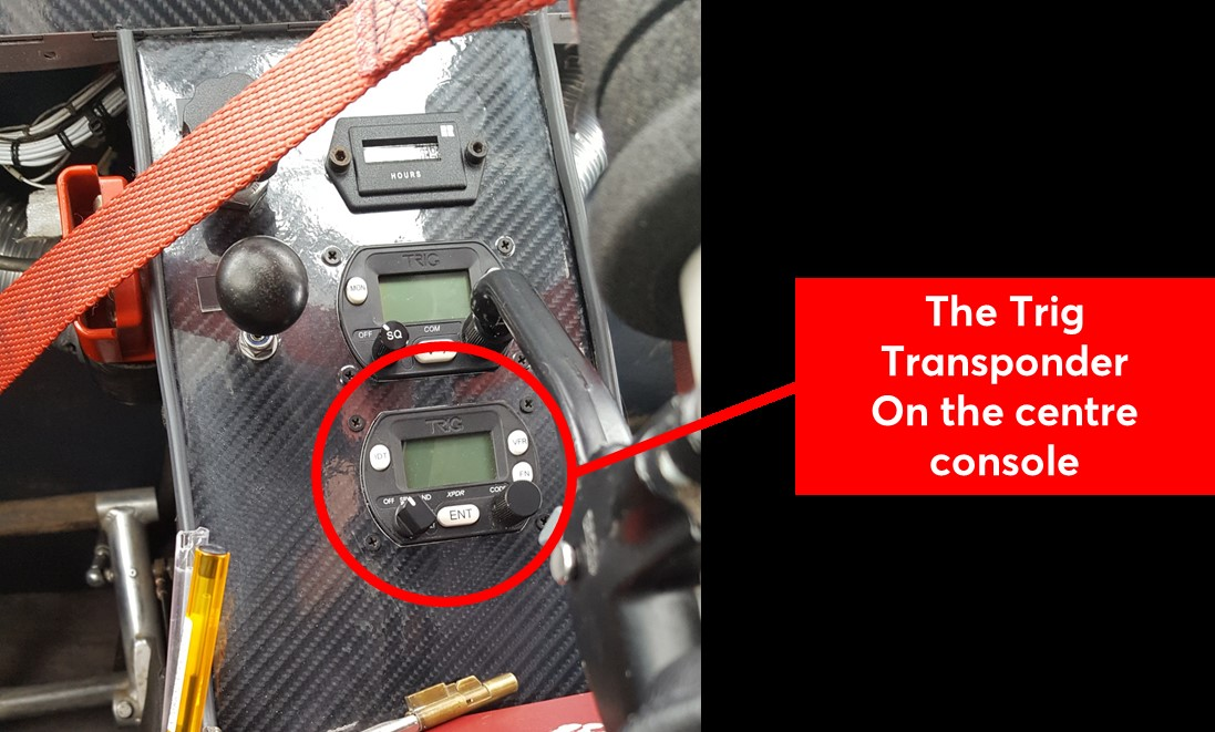 Location of the transponder in the C42