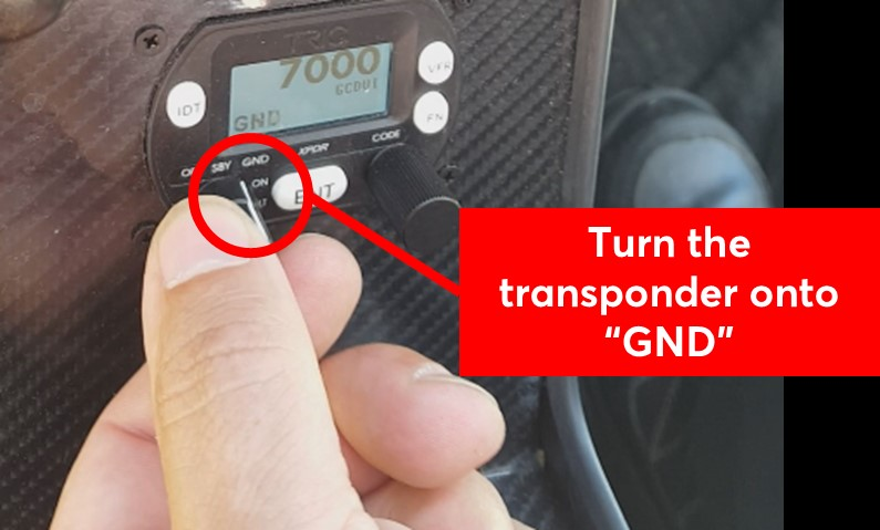 Turn the transponder to GND