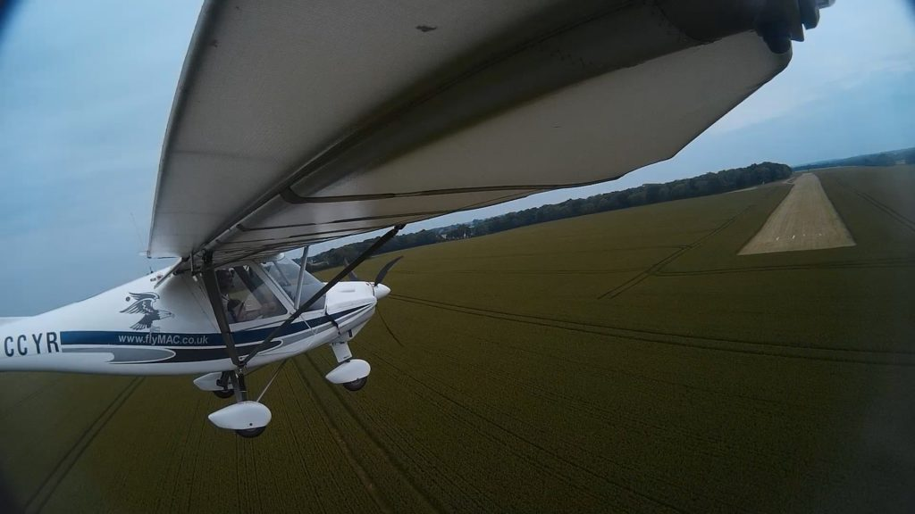 Landing at West Tisted airfield