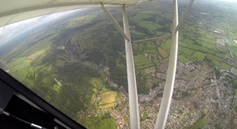 Cheddar Gorge from the air