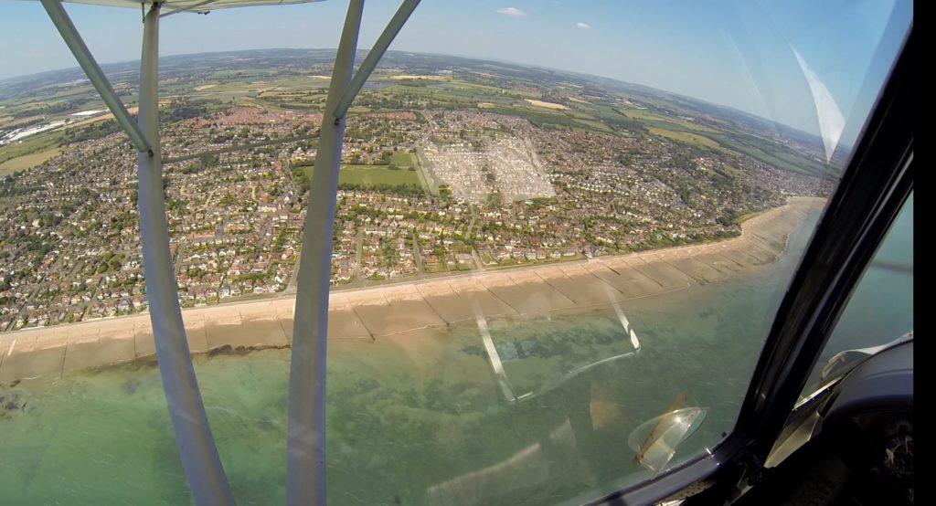 Bognor beach from the air