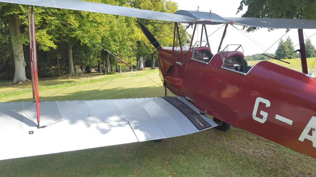 Tiger Moth at Charlton Park