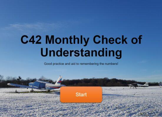 C42 Monthly Check of Understanding