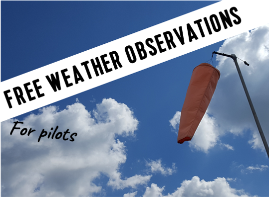 FREE weather observations for pilots