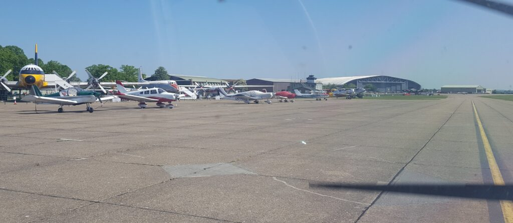 Taxiway at Duxford